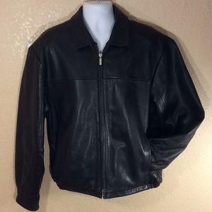 Wilson Leather Pelle Studio bomber jacket, black